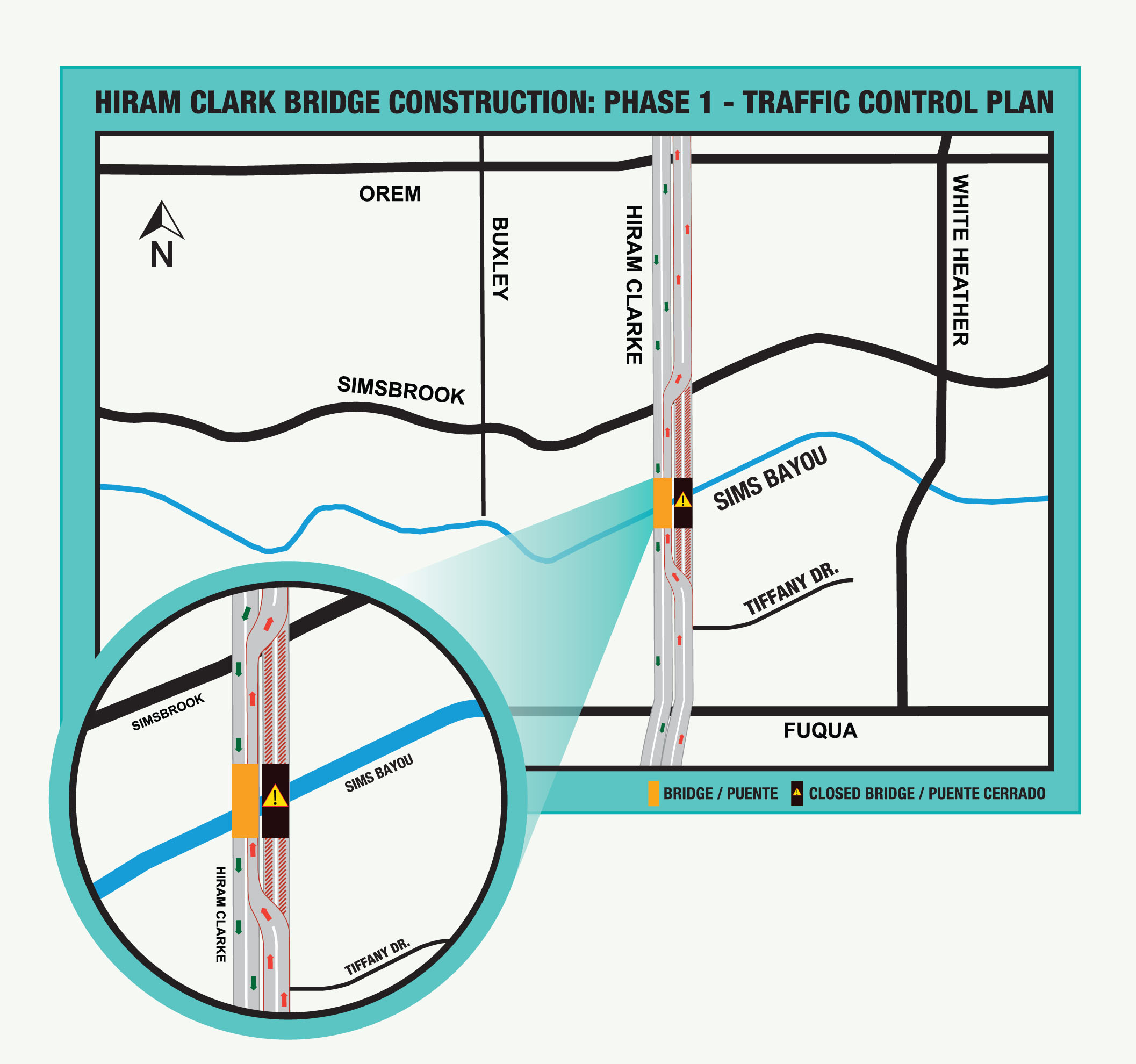 News router information center for harris county flood control hiram clarke bridge construction phase 1 traffic control plan mapg pooptronica Image collections
